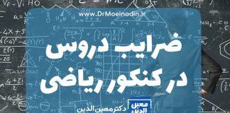ضرایب دروس در کنکور ریاضی
